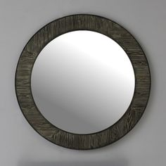 Infurniture 35 Rustic solid fir mirror in grey (Round) Vanity Wall Mirror, Mirror Shop, Wall Mounted Mirror, Small Entryways, Mirrors Wayfair, Beautiful Wall, Home Decor Trends, Home Decor Outlet, Rustic Design