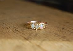 Hey, I found this really awesome Etsy listing at https://www.etsy.com/listing/216455390/antique-opal-and-european-cut-diamond