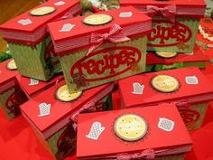 Cookie exchange recipe box - great idea for party favor