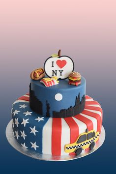 Beautiful Cake Decorating Nyc within New York Cake Birthday Cake Fondant, Birthday Cake Nyc, Fondant Cupcakes, Birthday Cookies, 21st Birthday, Cake Decorating Courses, Cake Decorating Supplies, New York Kuchen, Beautiful Cakes