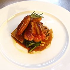 Andrew Birch's delicious dish of Lamb, Rosemary and Wild Garlic