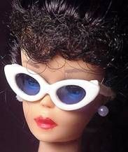Vintage Barbie Glasses  available in black glasses, white sunglasses, blue sunglasses, red rimmed sunglasses, and white glitter sunglasses sunglasses