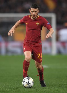 Alessandro Florenzi of AS Roma in action during the UEFA Champions League Quarter Final Second Leg match between AS Roma and FC Barcelona at Stadio Olimpico on April 10, 2018 in Rome, Italy.