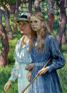 Mrs. Schlumberger and her Daughter  - Theo van Rysselberghe