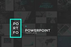 PORTFO PowerPoint Template by Angkalimabelas on @creativemarket Professional creative design Presentation Template Slides. Creative, modern, clean, minimalist, trendy, marketing Promotion Promo Posts for Business, Proposal, Marketing, Plan, Agency, Startups, Portfolio Design Layout.