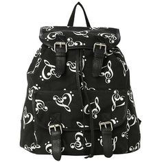Music Clef Heart Medium Slouch Backpack Hot Topic ($19) ❤ liked on Polyvore featuring bags, backpacks, slouchy backpack, slouch bag, rucksack bag, knapsack bags and heart shaped bag