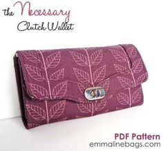 The Necessary Clutch/Wallet Pattern by Emmaline