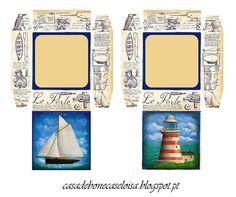 casa de bonecas da eloisa: boxes with marine motif on the lock