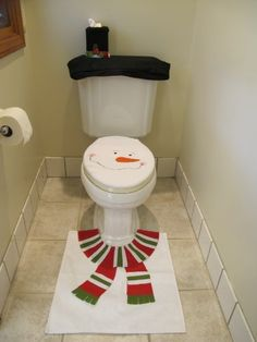 4 Pcs Christmas Santa Bathroom Toilet Seat Cover and Rug Set - White Snowman Imperial Home,http://www.amazon.com/dp/B00A0XKHPU/ref=cm_sw_r_pi_dp_EXrFsb1ETE06KTRX