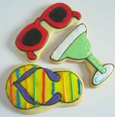 Summer cookies . . wanting to learn how to do this hard icing on my sugar cookies instead of my traditional buttercream