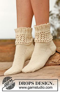 Ravelry: 146-38 Chrystal - Socks with lace pattern in Karisma pattern by DROPS design