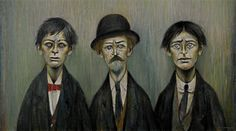 Father and Two Sons by L.S. Lowry