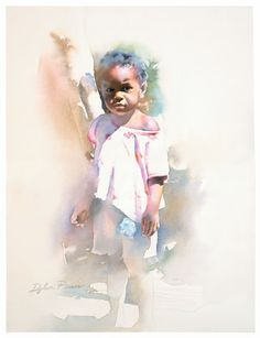 Dylan Scott Pierce, American artist, watercolors and oil paintings, online art classes. Hope Painting, Watercolor Portrait Painting, Painting People, Portrait Art, Figure Painting, Painting & Drawing, Portrait Paintings, Watercolor Artists, Zebra Kunst