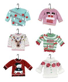 Love this Uglier Sweater Ornament Set on #zulily! #zulilyfinds