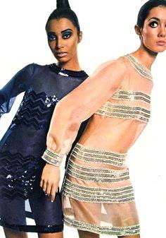 1960's fashion donyale luna and moya swann by david bailey 1966
