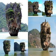 FAKE!!..there is no Castle as in picture. This island in South of Thailand, it is James Bond island or Tapu Island or in Thai meaning Crab's eye island, since it shape like the eye of crab. Amazing Snaps: Stunning Castle in Dublin, Ireland......  How come? make this kind of mistake!!