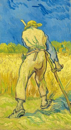 Vincent van Gogh (1853-1890), Le moissonneur (d'après Millet). Painted in Saint-Rémy in 1889. Oil on canvas. 17 × 9⅝ in (43.3 × 24.3 cm). Estimate £12,500,000–16,500,000. This work is offered in the Impressionist and Modern Art Evening Sale on 27 June at Christie's London