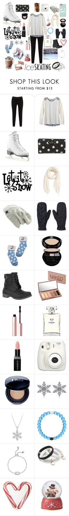 """Ice skating⛸💗"" by reecedwyer14 ❤ liked on Polyvore featuring JunaRose, prAna, Kate Spade, Nordstrom, Roxy, Giorgio Armani, Kamik, Urban Decay, Too Faced Cosmetics and Chanel"