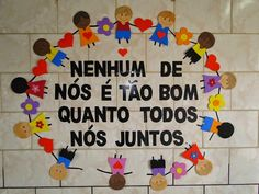 Nenhum de nós é tão bom quanto todos de nós juntos Disney Christmas Decorations, First Day Of Class, Education Information, Early Childhood Education, Preschool Crafts, Holidays And Events, Kids Learning, Back To School, Activities For Kids