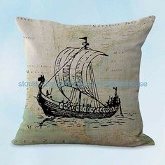 US SELLER cushion pillow covers ocean marine nautical mermaid cushion cover