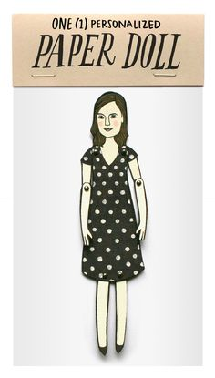 Personalized paper doll by Jordan Grace Owens via Etsy. Um, I wanted to market this but she's got me beat! And for twenty five bucks, can I get a hell yeah.