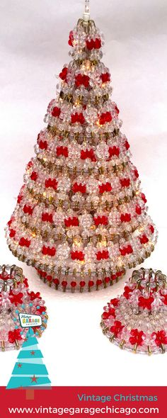 Free Beaded Christmas Patterns | Tree Pattern - Beaded Safety Pin ...