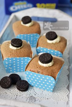 Bake for Happy Kids: Cookies and Cream Oreo Chiffon Cupcakes - So Light...