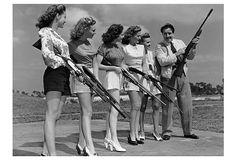Robert Dunstan, Shooting High- John Boles teaching trap shooting to five beauty queens