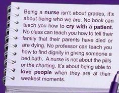 being a nurse ....
