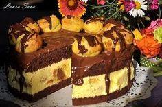 Tort Profiterol | Retete culinare cu Laura Sava - Cele mai bune retete pentru intreaga familie Fudge Cake, Brownie Cake, Pie Cake, No Bake Cake, Romanian Desserts, Romanian Food, Sweet Recipes, Cake Recipes, Dessert Recipes