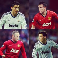 Real Madrid vs Manchester United.  Ronaldo. RVP. Ozil. Rooney.  #ChampionsLeague games don't get much bigger than this!