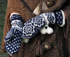 Norwegian Mitts  Return to the Fiord's by domklary on Etsy, $40.00     i love these!!! and am too scared of messing up to try knitting them on my own!
