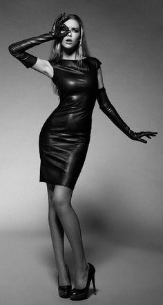 Photography, fetish, fashion, leather, latex and. Fetish Fashion, Latex Fashion, Leather Dresses, Leather Skirt, Elegant Gloves, Dress Skirt, Bodycon Dress, Gloves Fashion, Black Leather Gloves