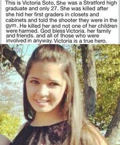 She's so brave. R.I.P. This was during the Connecticut shooting.