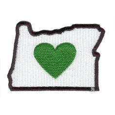 Heart In Oregon Patch   Heart In Oregon   Made In Oregon