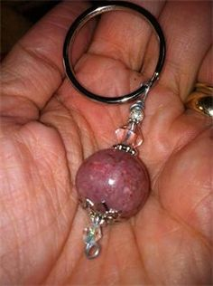 keychain bead made from funeral flowers...