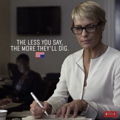 Actress Robin Wright (a. Claire Underwood from House of Cards) got sassy this weekend when asked about her favorite White House Correspondent. Claire Underwood Style, Frank Underwood, Clare Underwood, Robin Wright, Street Quotes, Greater Good, House Of Cards, Intj, Fashion Quotes