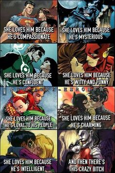 DC comics relationships...and then there's these two.