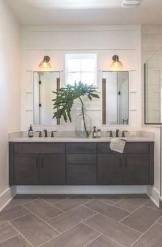 Best Bathroom Flooring, Bathroom Floor Tiles, Bathroom Mirrors, Bathroom Cabinets, Bathroom Paneling, Wall Panelling, Oak Cabinets, Bathroom Lighting, Tile Floor
