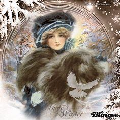 Y.A.M._Vintage winter Vintage Valentines, Be My Valentine, Photo Editor Free, Glitter Graphics, Vintage Winter, Custom Photo, Free Photos, Winter Wonderland, Animation