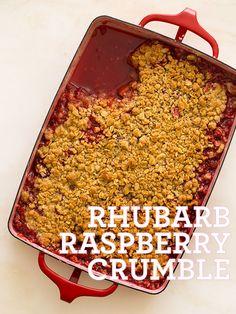 Rhubarb Raspberry Crumble