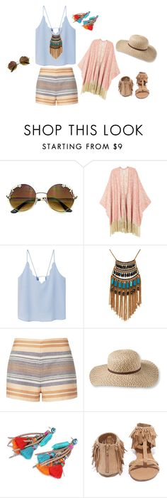 """Boho pastel chic style"" by ayuhariyani on Polyvore featuring Melissa McCarthy Seven7, MANGO, Leslie Danzis, Solid & Striped, L.L.Bean, Qupid and plus size clothing"