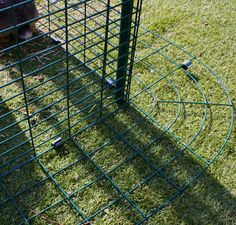 The Outdoor Rabbit Run has a detachable anti-tunnel skirt to prevent predators from digging in.