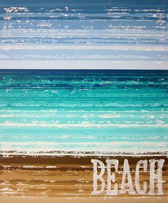 Lakeside (Beach Art) by Kate Zitzer :: more paintings available on Etsy #art #homedecor