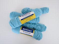 SALE  Vintage 60's Robin's Egg Blue Yarn  2 by BingoVintageShop, $6.50