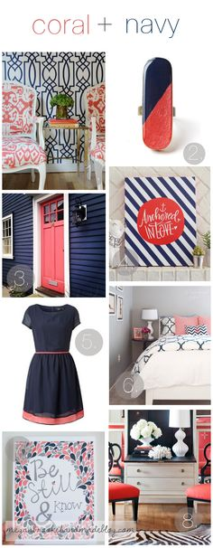 Coral & Navy Color Inspiration