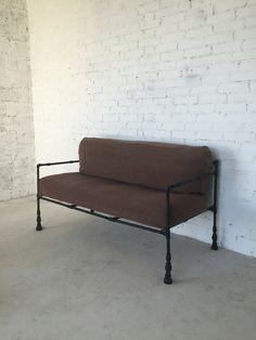 Диван #2 #didesign #loft Материал: металл/текстиль. Цвет: черный/матовый. Обработка: 2 слоя краски и лака. Стоимость: 38.000 тысяч рублей.