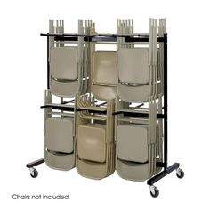 Safco 4199BL Two-Tier Chair Cart
