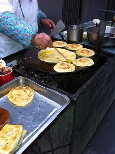 Egg pancake with chili from street vendor in Shanghai