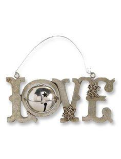 Silver Love Ornaments